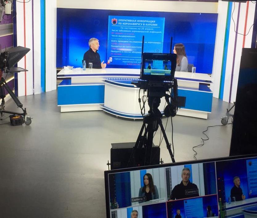 Передача на телеканале «ОТР» с участием Главы Карелии посвящена ситуации с коронавирусом в республике